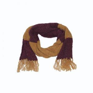 shawl orange burgundy alpaca boucle